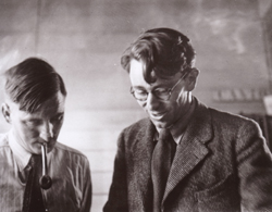Curnow with Denis Glover 1946