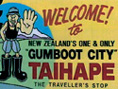 Taihape Gumboot City sign